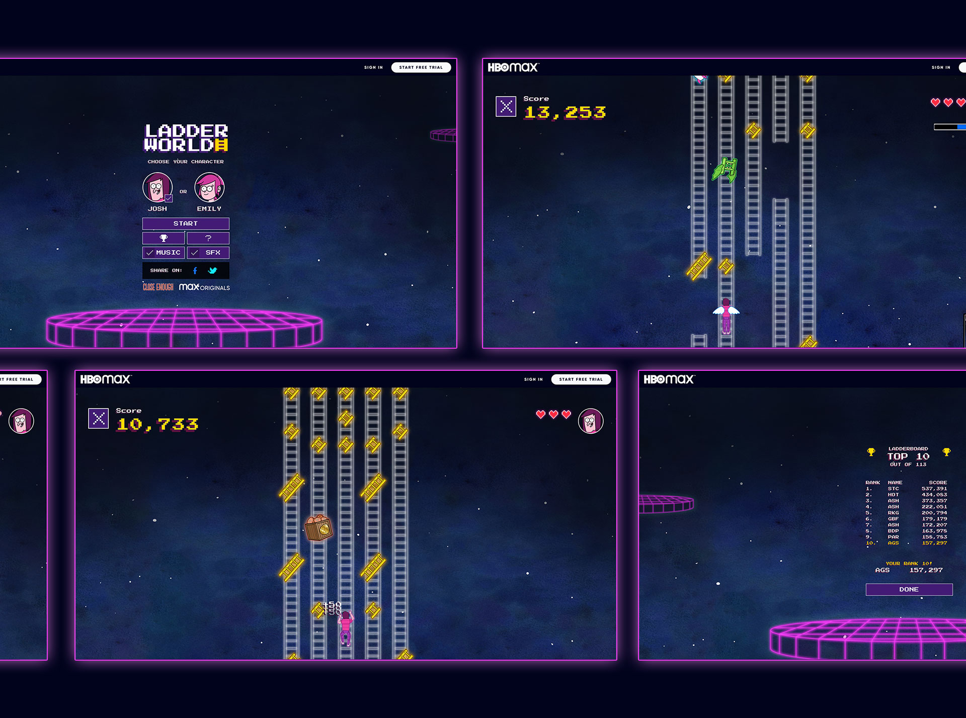 Ladder World screenshots.